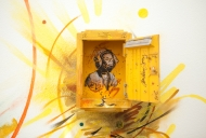 C215 Artwork, Portrait in Postbox with Art Face