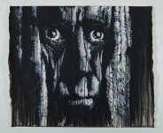 Daniel-Eime, Portrait, Stencil, Black, white, old man, grey