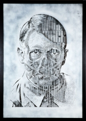 POP UBER ALLES Portrait of Adolf Hitler media: Stencil Matrix size:70 x 100 cm Edition: 1/1 year: 2012 POA