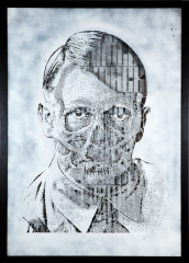 POP UBER ALLES Portrait of Adolf Hitler media: Stencil Matrix size:70 x 100 cm Edition: 1/1 year: 2012 POA