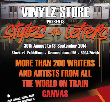 Styles and Letters - Train Canvas Exhibition